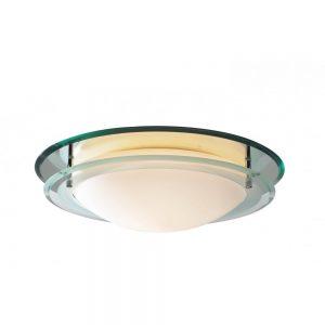 Modern Glass Bathroom Flush Ceiling Light - £111.00