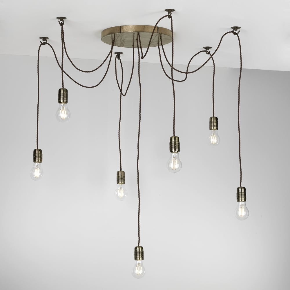 Huckleberry 7 light cluster ceiling pendant bronze ceiling