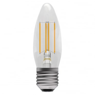 4W LED Filament Clear Candle Dimmable - ES/E27, 2700K
