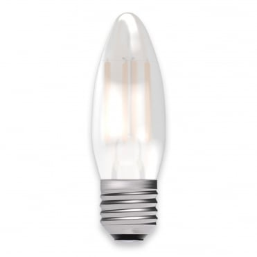 4W LED Filament Satin Candle Dimmable - ES/E27, 2700K