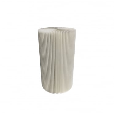 55cm Short Recycled Cardboard Pillar Display Plinth Natural White