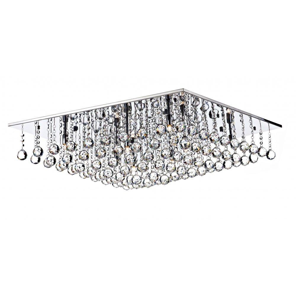 Abacus 8 light flush ceiling fitting low ceiling light chrome