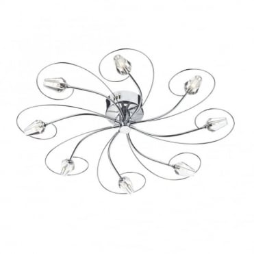 ABODE - Flush Fitting Modern Low Ceiling Light Large