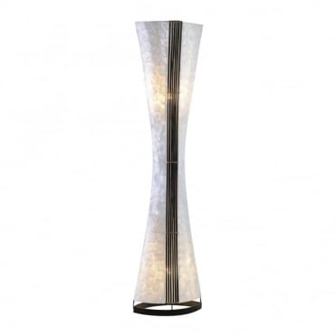 ABUJA - Floor Lamp Multicoloured in Brown, Cream/Ivory
