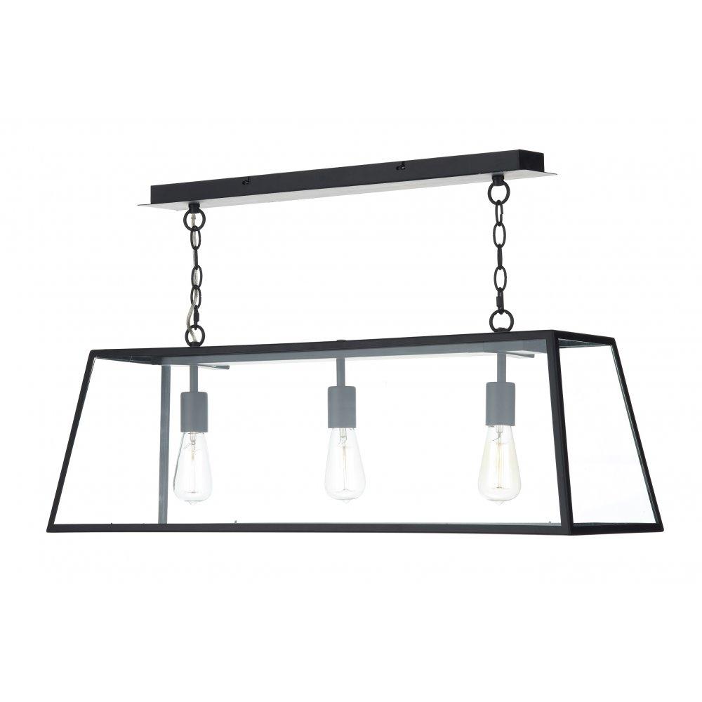 Academy 3 light ceiling pendant black