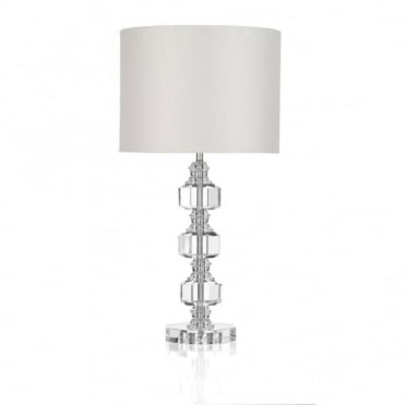 ACTON - Crystal Table Lamp Complete With Shade