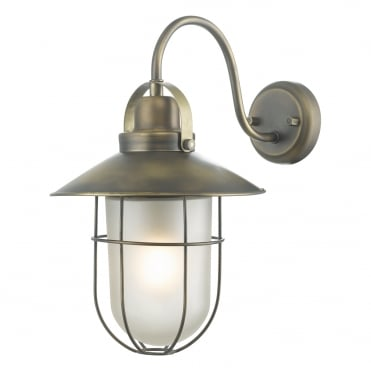 ADDISON Nautical Caged Exterior Wall Light with Frosted Glass