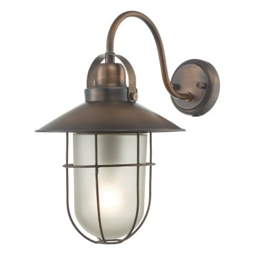 ADDISON Nautical Exterior Wall Light in Antique Copper