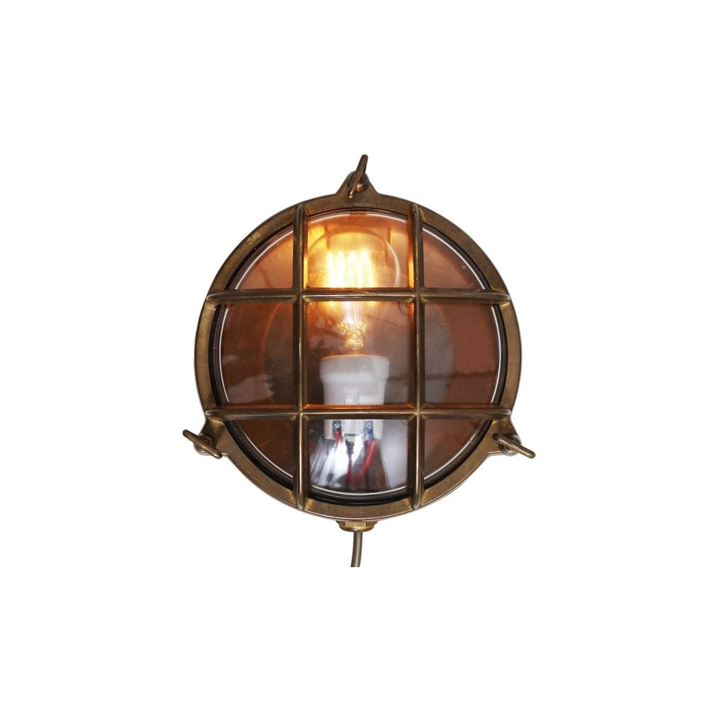 Adoo Exterior Marine Nautical Wall Light In Antique Brass