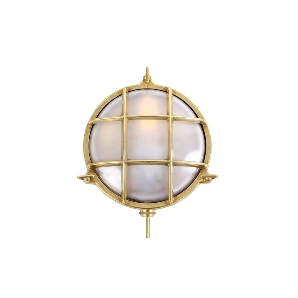 Adoo Exterior Marine Nautical Wall Light In Satin Brass