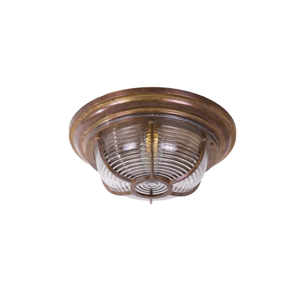 Industrial Nautical Bronze Bulkhead Light Lighting And