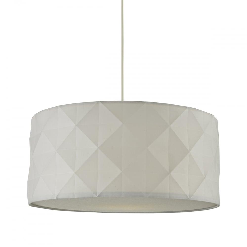 easy lighting. AISHA - White Geometric Easy Fit Shade Lighting 2