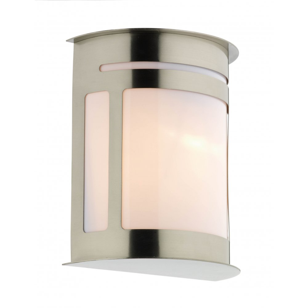 Alumni exterior oval stainless steel garden wall light