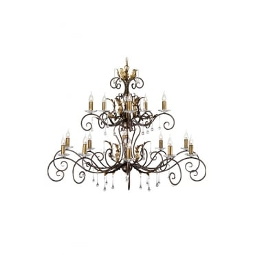 AMARILLI Extra Large 15 Light Chandelier in Bronze