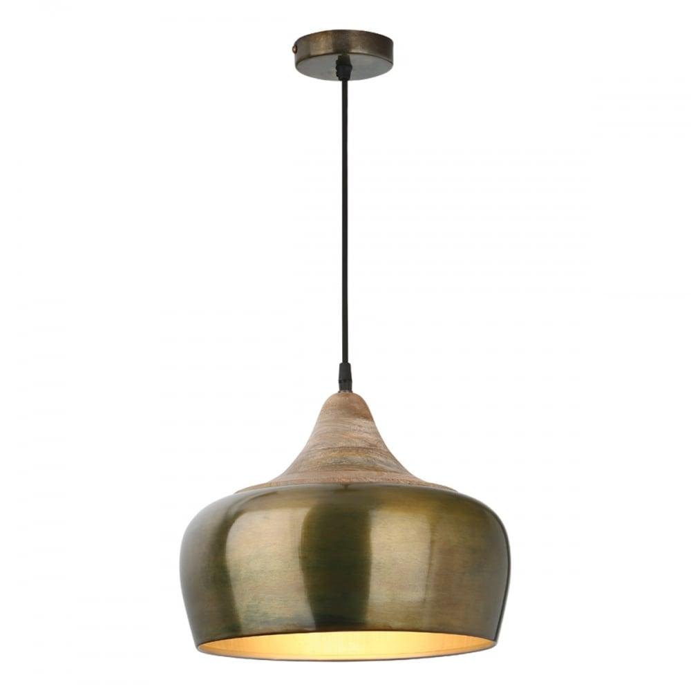 on sale 06c46 370fd AMIEL Ceiling Pendant Antique Brass and Matte White