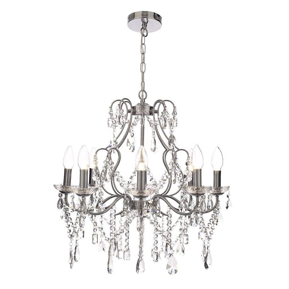 ANNALEE chandelier style bathroom wall light dressed with crystal