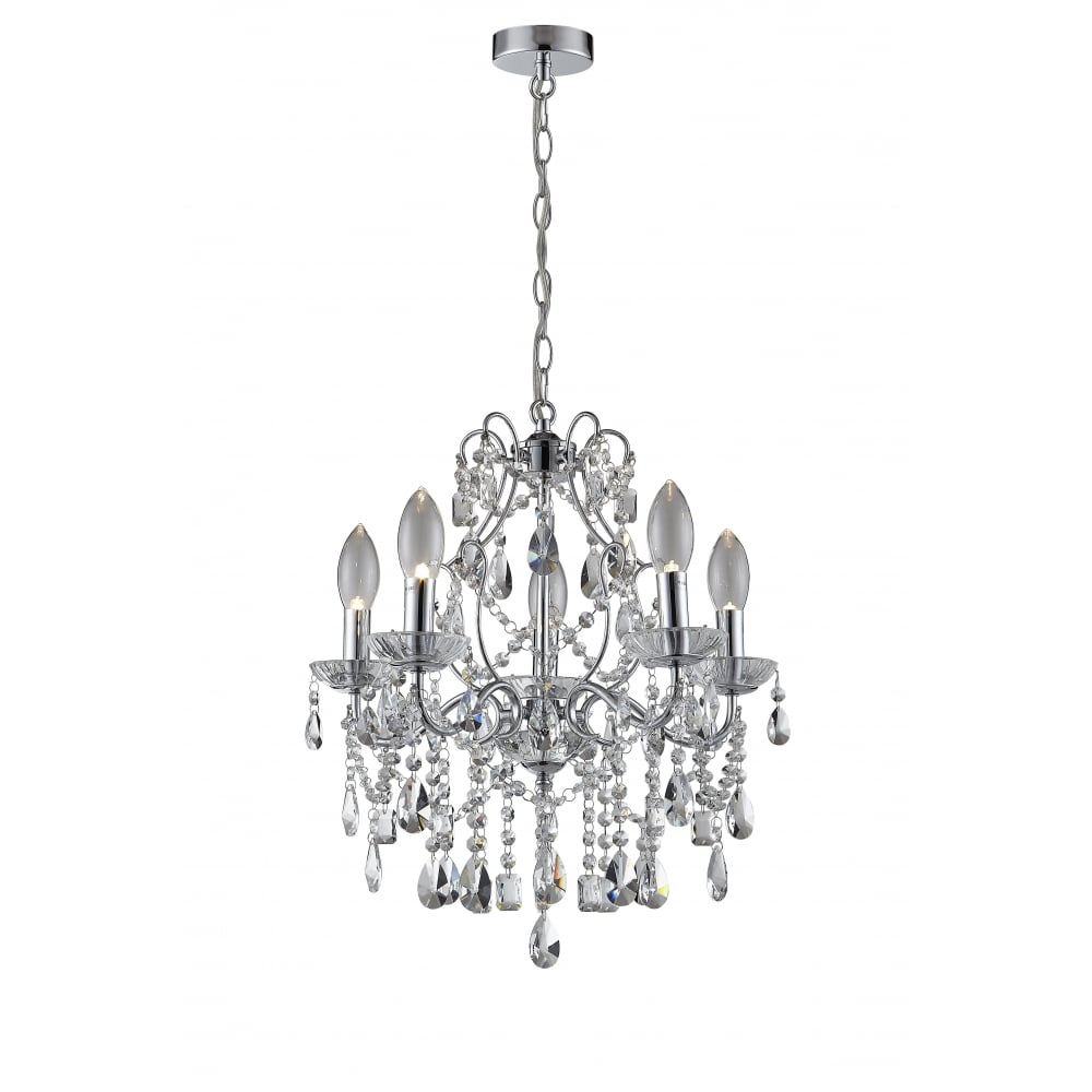 ANNALEE Luxury Cinderella 5 Light Bathroom Chandelier