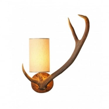 ANTLER - Left Facing Stag Wall Light