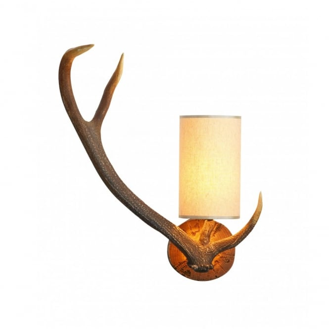 ANTLER - Right Facing Stag Wall Light