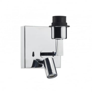 ANVIL - Chrome Wall Light Bracket With LED Reading Light , Switched