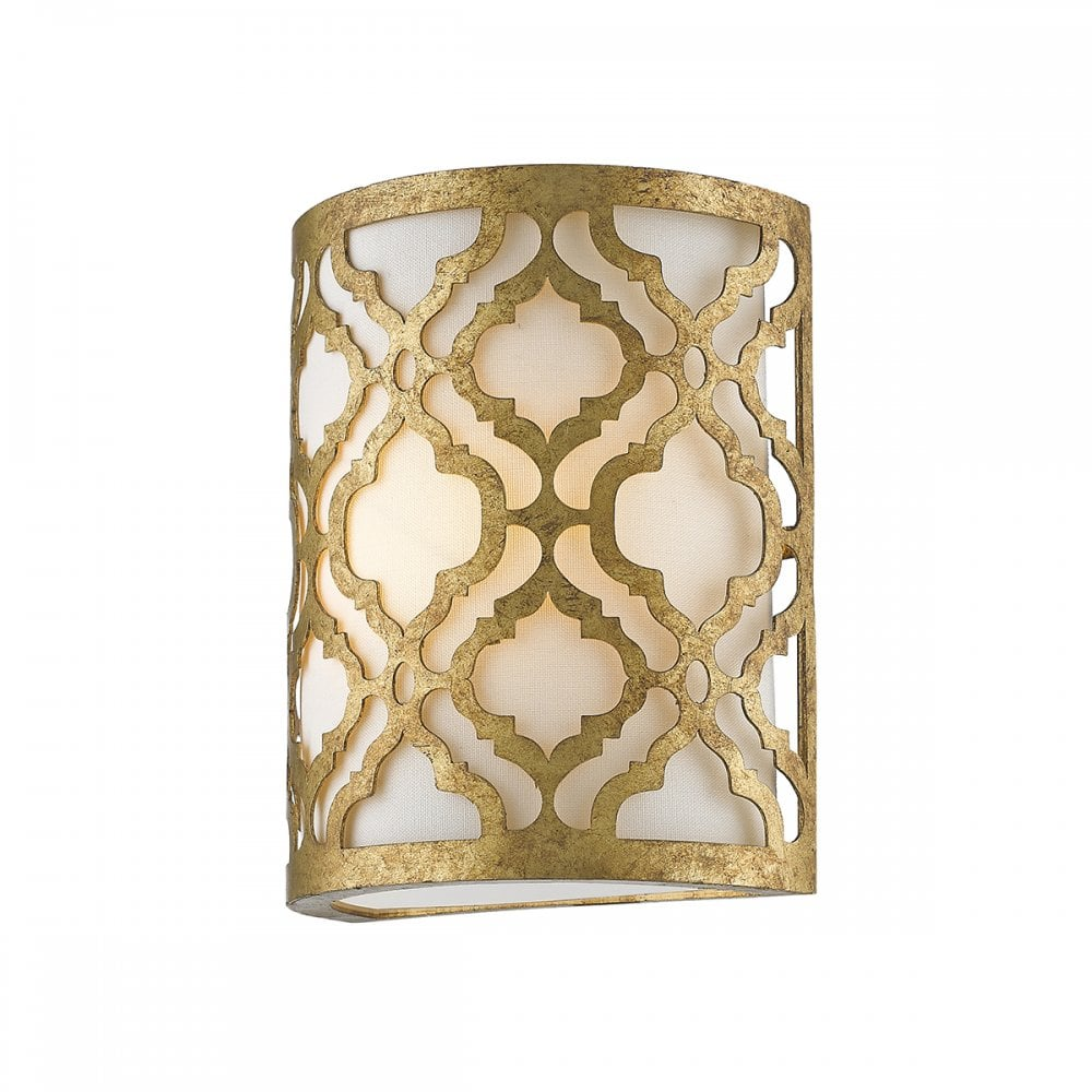 best sneakers 5a7b4 f0324 ARABELLA Wall Sconce Light Distressed Gold and Cream