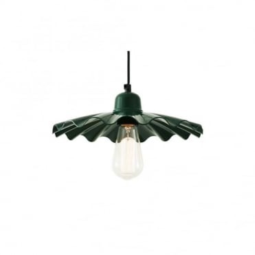 ARDLE - Modern Factory Ceiling Pendant In Powder Coated Racing Green