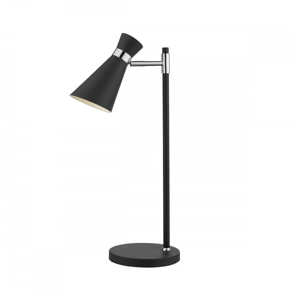 The Lighting Book ASHWORTH   Table Lamp Black Polished Chrome Black