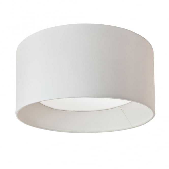 Astro BEVEL - Large Flush Fitting Ceiling Light With Circular White Fabric Shade