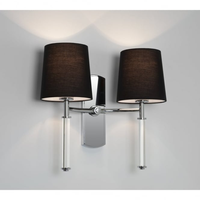 Astro DELPHI - Twin Chrome & Clear Modern Wall Light