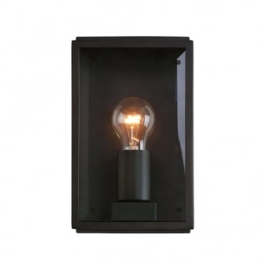 HOMEFIELD - Outdoor Square Box Wall Light Black