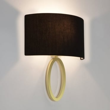 LIMA - Contemporary Flush Ring Wall Light With Shade (Matte Brass)
