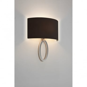 LIMA - Modern Chrome Wall Light With Curved Black Shade