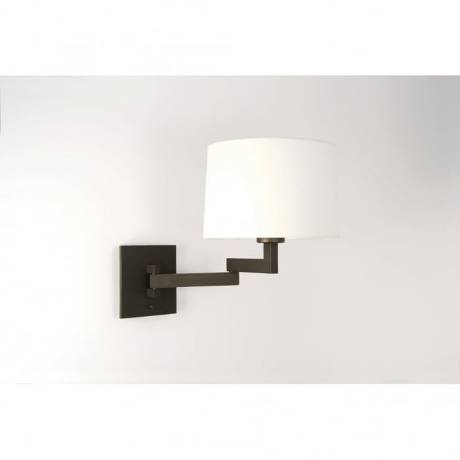 Astro MOMO - Modern Swing Arm Wall Light With Shade (Bronze)