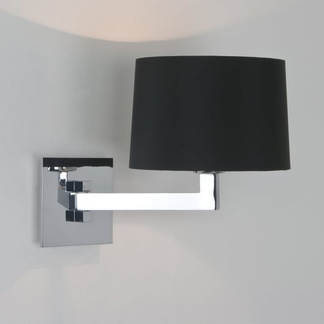 Astro MOMO - Single Swing Arm Contemporary Wall Light With Shade IP44 (Chrome)