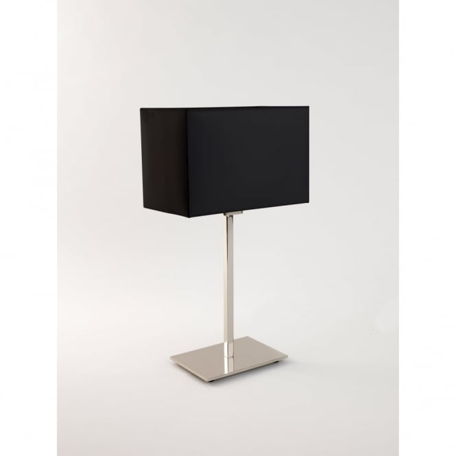 PARK - Lane Chrome Table Lamp With Black Shade