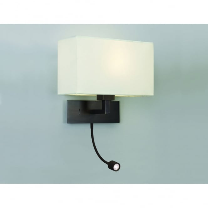 PARK - Lane Grande LED Bronze Bedroom Wall Light With LED Reading Arm
