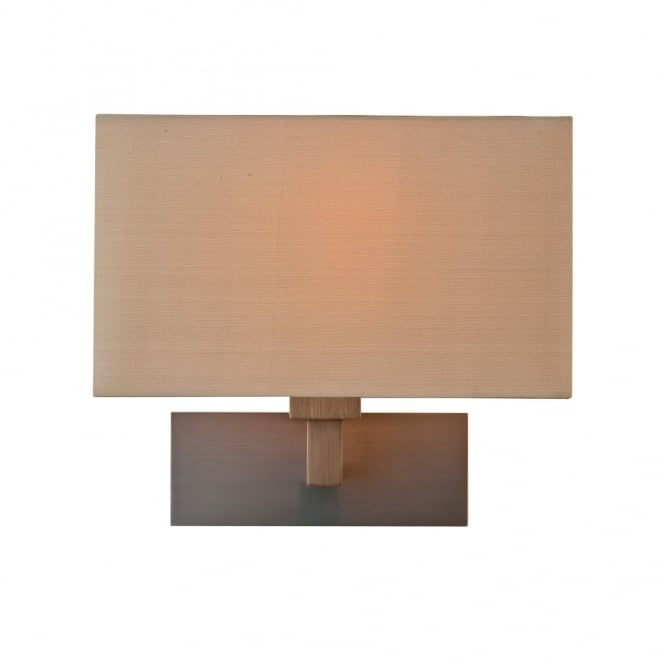 PARK - Lane Grande Modern Bronze Hotel Style Wall Light With Oyster Silk Shade