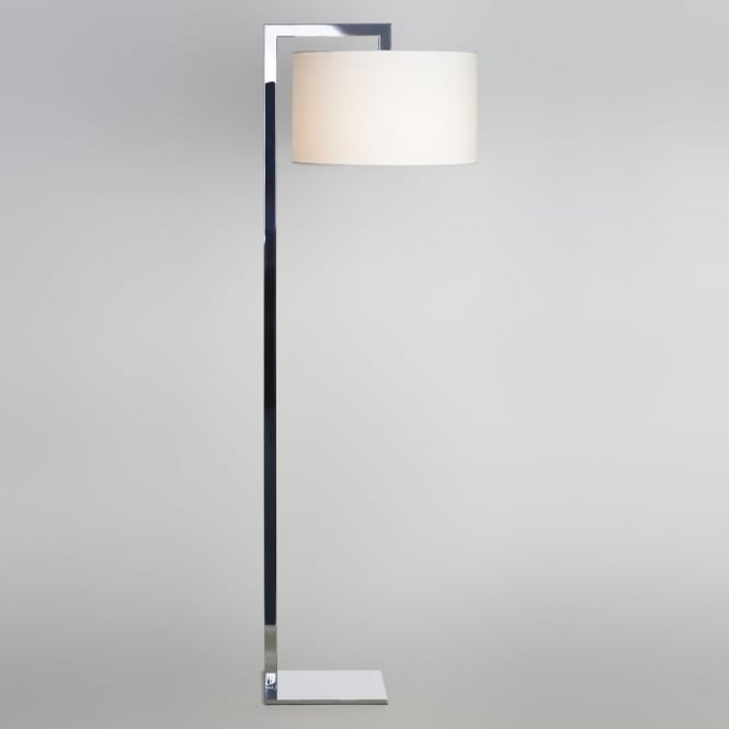 Astro RAVELLO - Contemporary Chrome Floor Lamp With White Shade