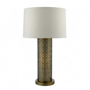 ASWAN - Table Lamp Dual Source Bronze Complete With Shade Bronze