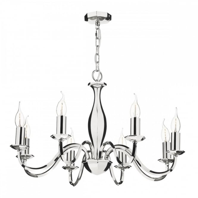 ATHOL - 8 Light Ceiling Pendant Polished Nickel
