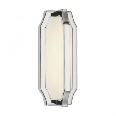 AUDRIE - LED Wall Light in White, Chrome, Nickel