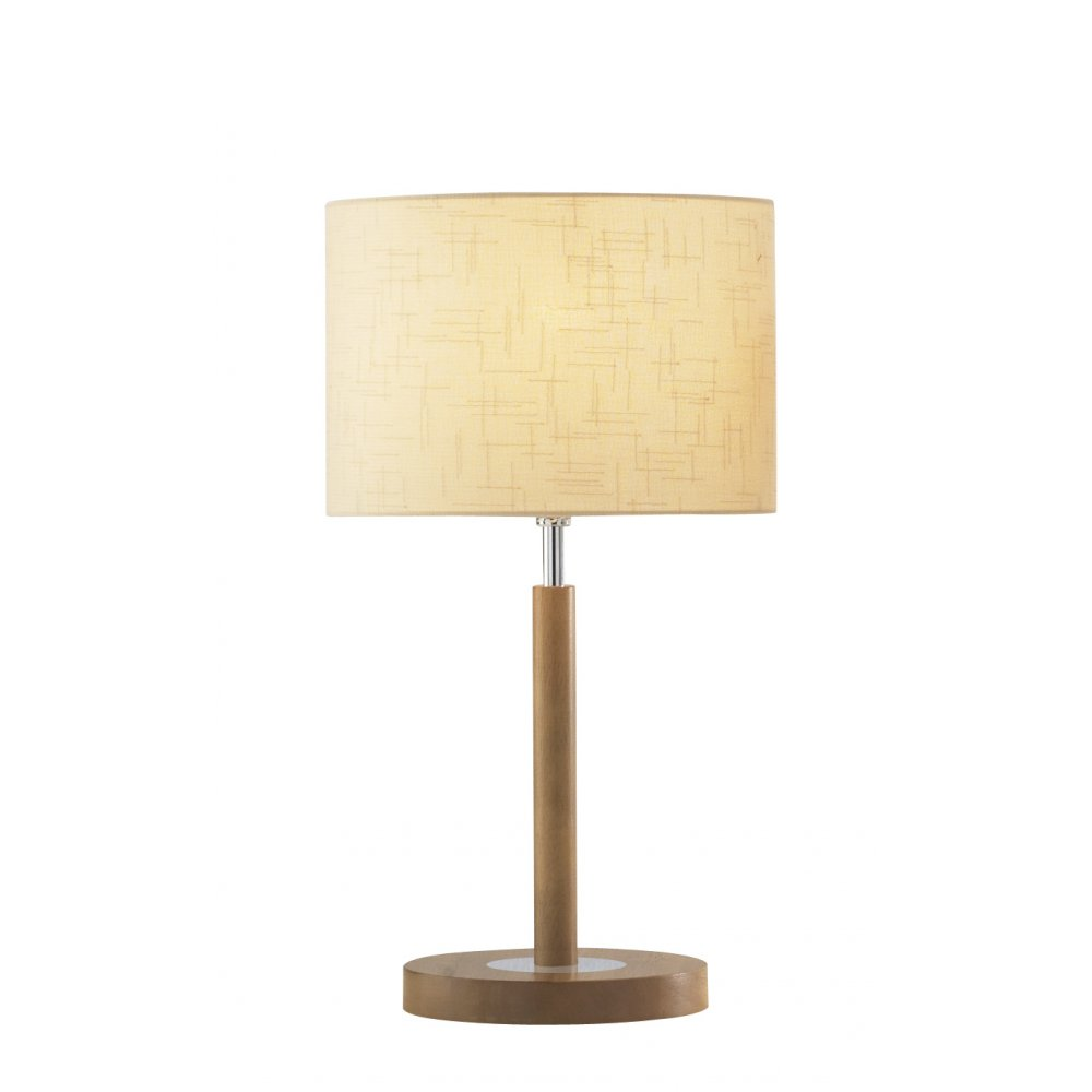 Avenue modern light wood table lamp and shade