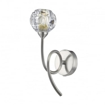 BABYLON - Wall Light Satin Chrome , Switched