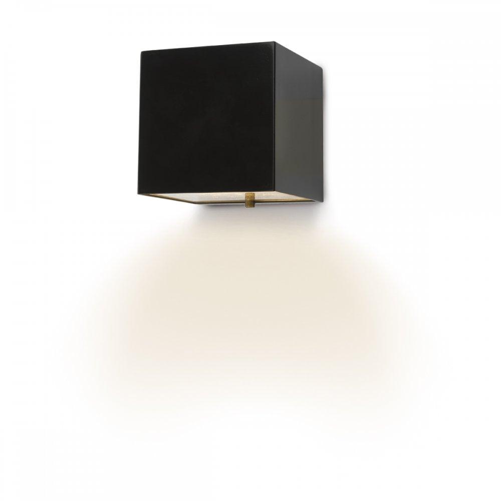 Modern Cube Exterior Wall Matt Black Led Ip44 Lighting And Lights Uk