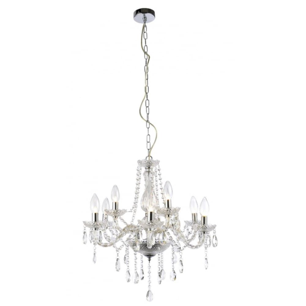 IP44 Bathroom Safe 9 Light Crystal Chandelier | Lighting ...