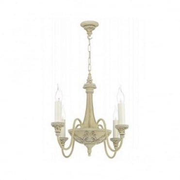 BAILEY - Traditional Cream Chandelier 4 Lights