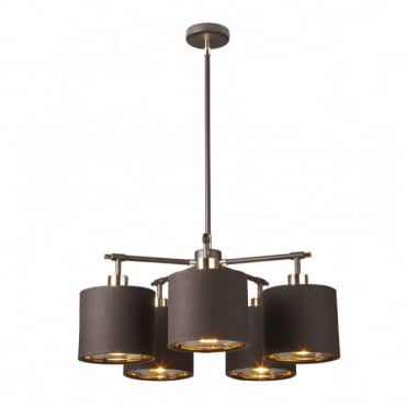 BALANCE - Brown/Polished Brass Chandelier