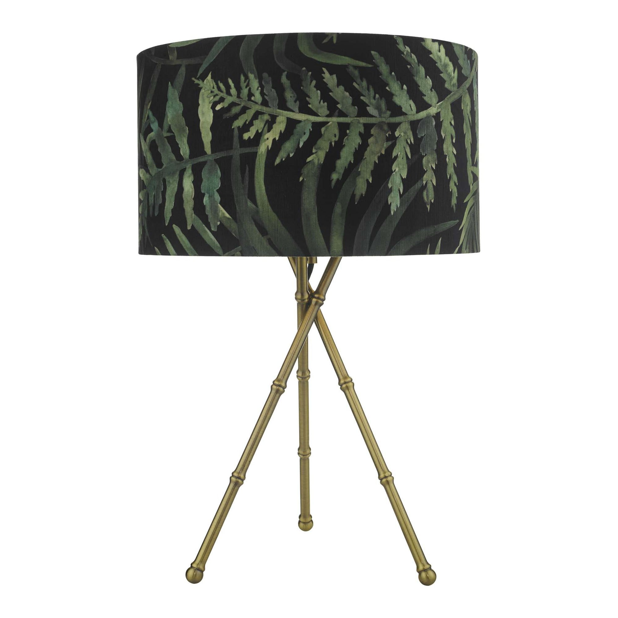 Picture of: Bamboo Table Lamp Antique Brass Base Lighting And Lights Uk