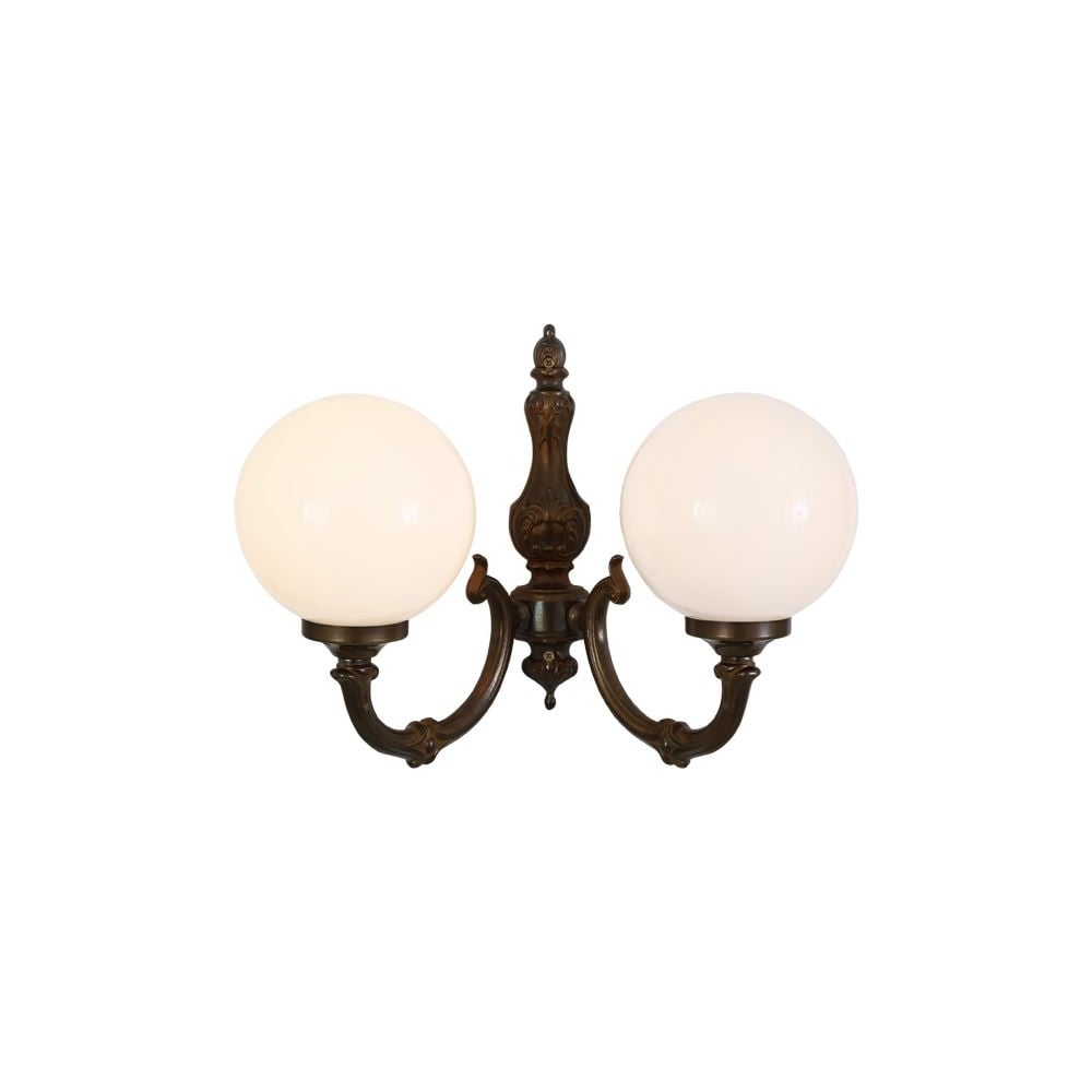 best website a72f3 77653 BEN - 2 Arm Traditional Wall Light In Antique Brass