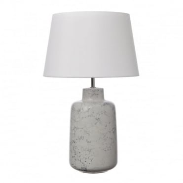 BENEDITA - Tl White/Grey Ceramic with Shade